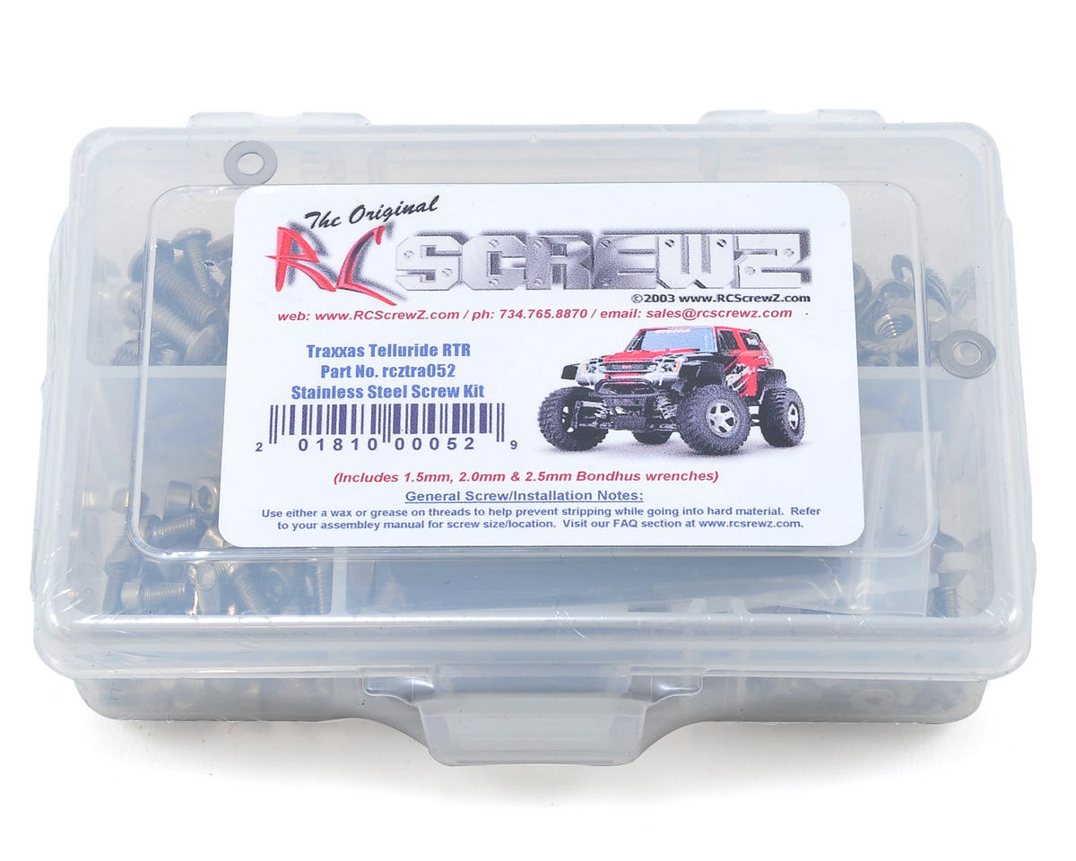 RC Screwz Traxxas Telluride 4x4 RTR Stainless Steel Screw Kit