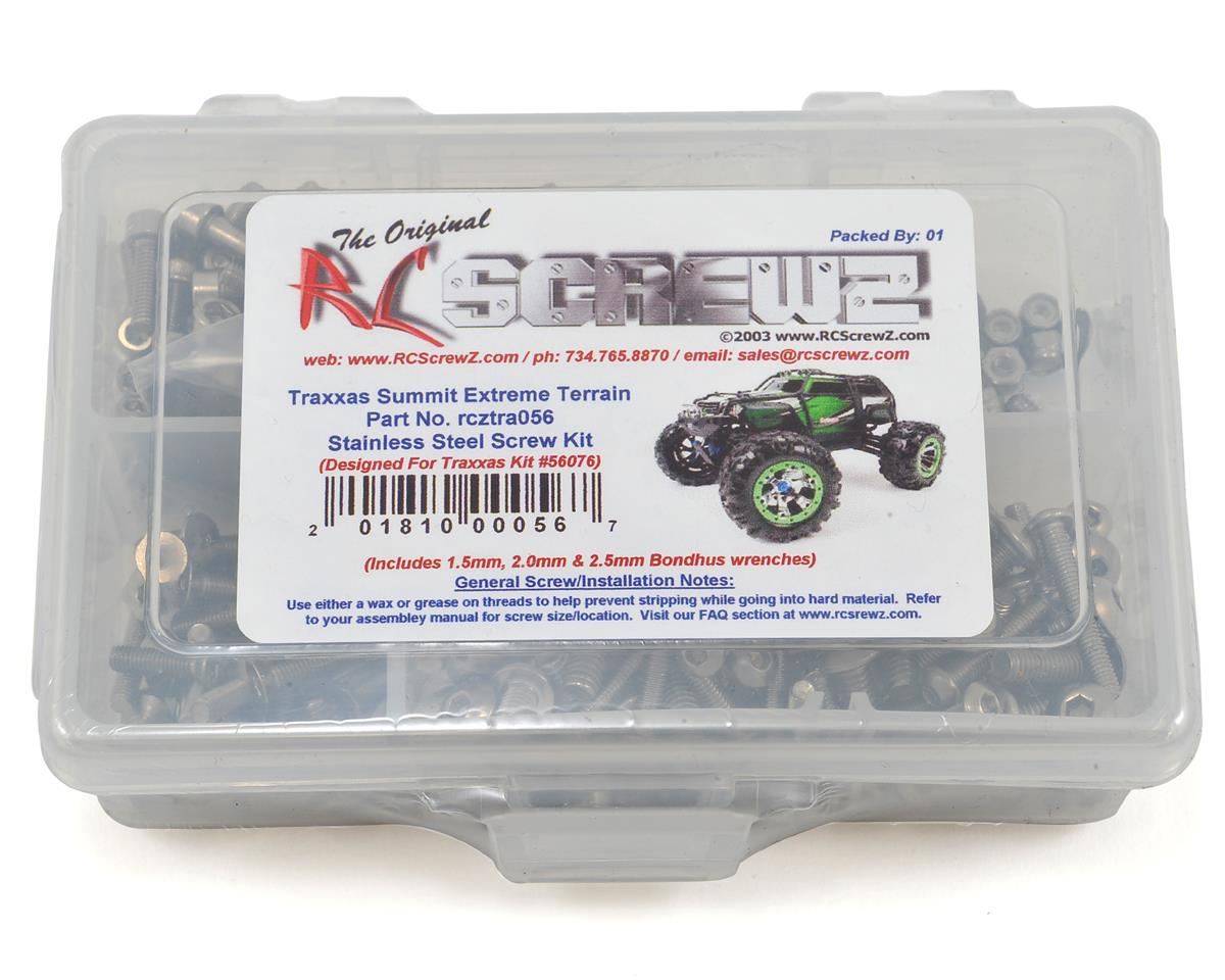RC Screwz Traxxas Summit Extreme Stainless Steel Screw Kit