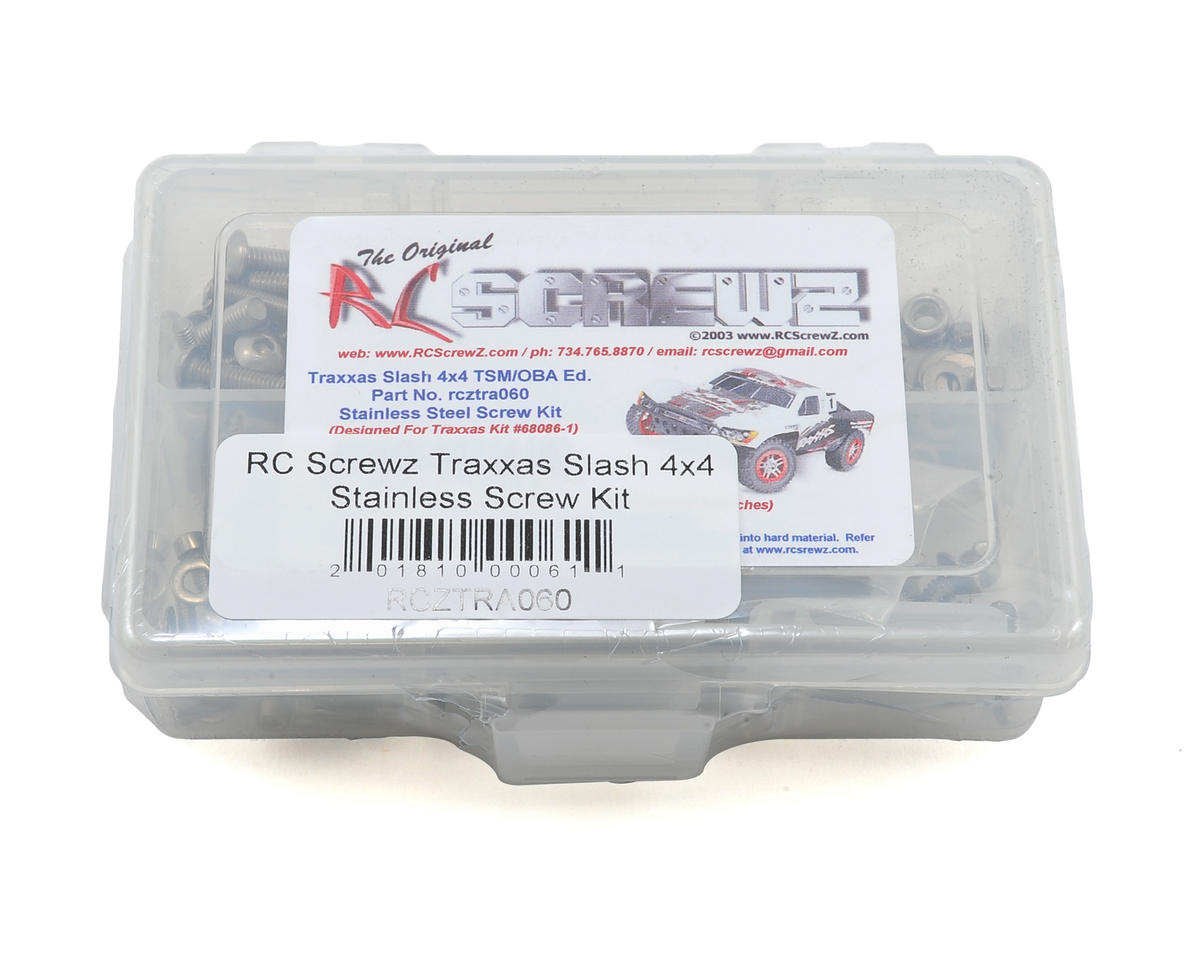 RC Screwz Traxxas Slash 4x4 TSM/OBA Stainless Screw Kit