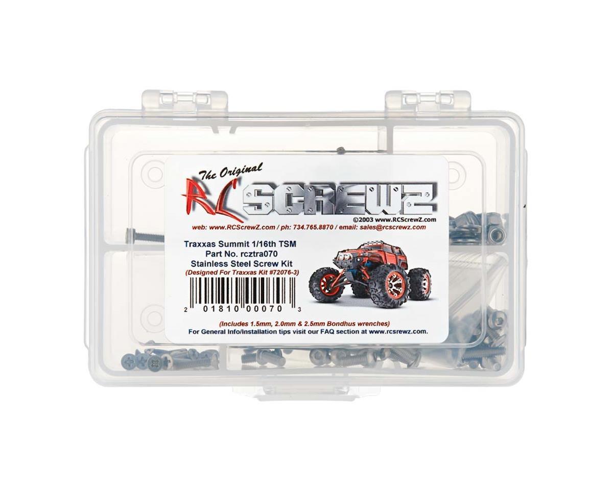 RC Screwz 1/16 Summit TSM Stainless Screw Kit