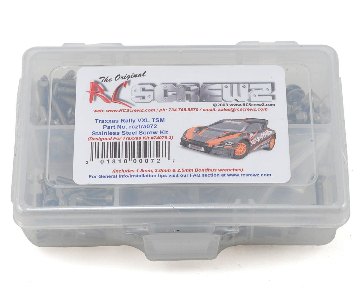 RC Screwz Traxxas Rally VXL TSM Stainless Screw Kit