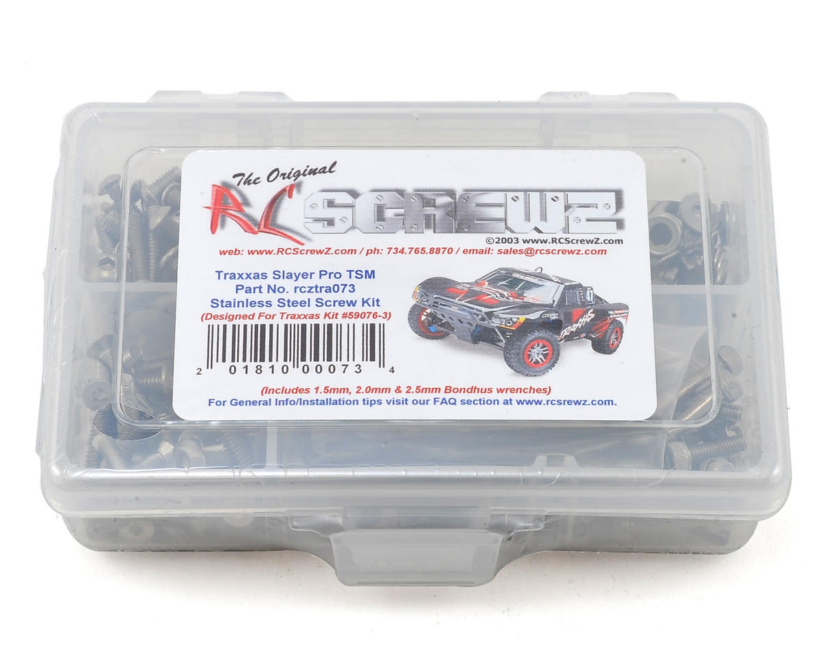 Traxxas Slayer Pro 4x4 TSM Stainless Screw Kit by RC Screwz