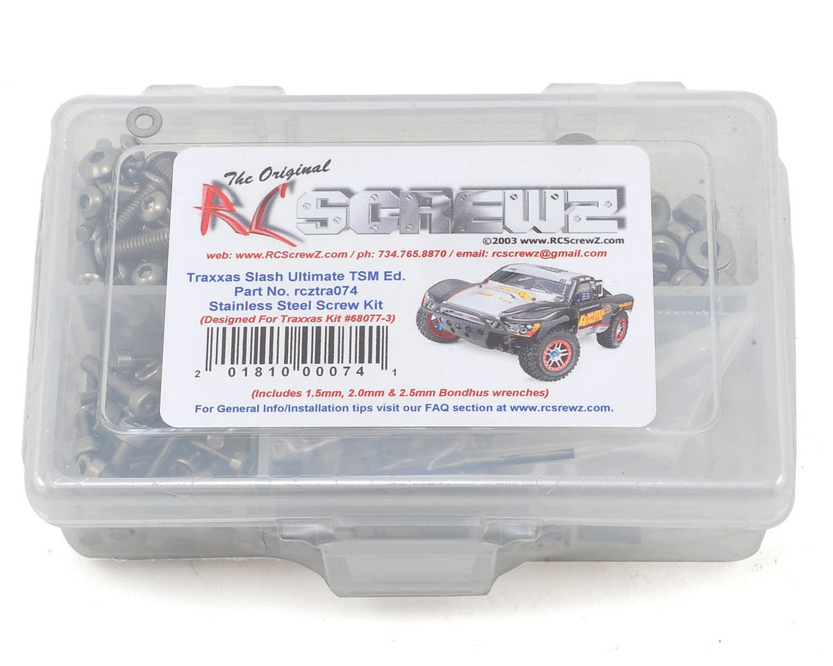 RC Screwz Traxxas Slash Ultimate TSM Stainless Screw Kit