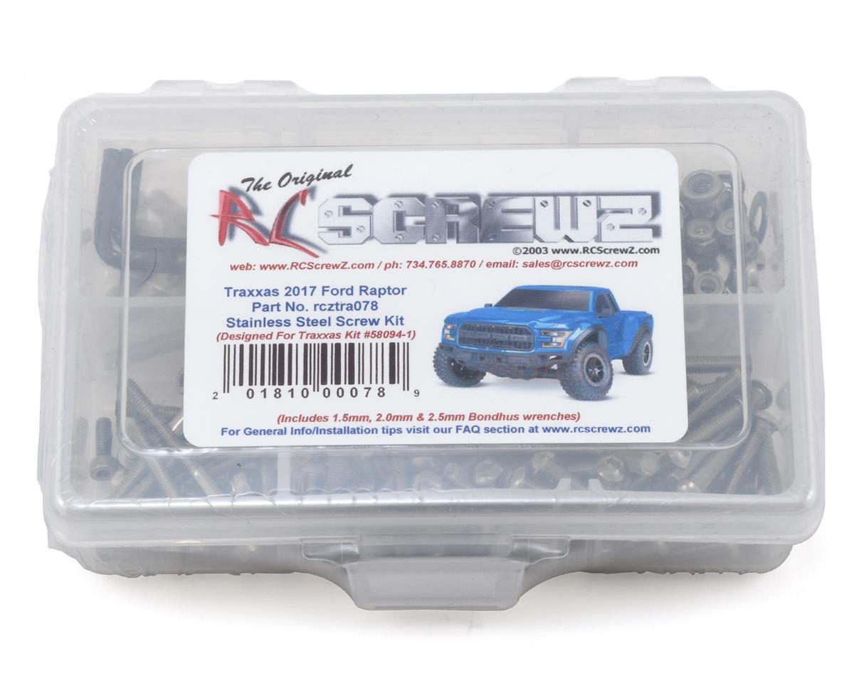 Traxxas Ford Raptor 2017 Stainless Steel Screw Kit by RC Screwz