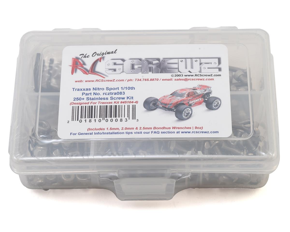 RC Screwz Traxxas Nitro Sport Stainless Steel Screw Kit