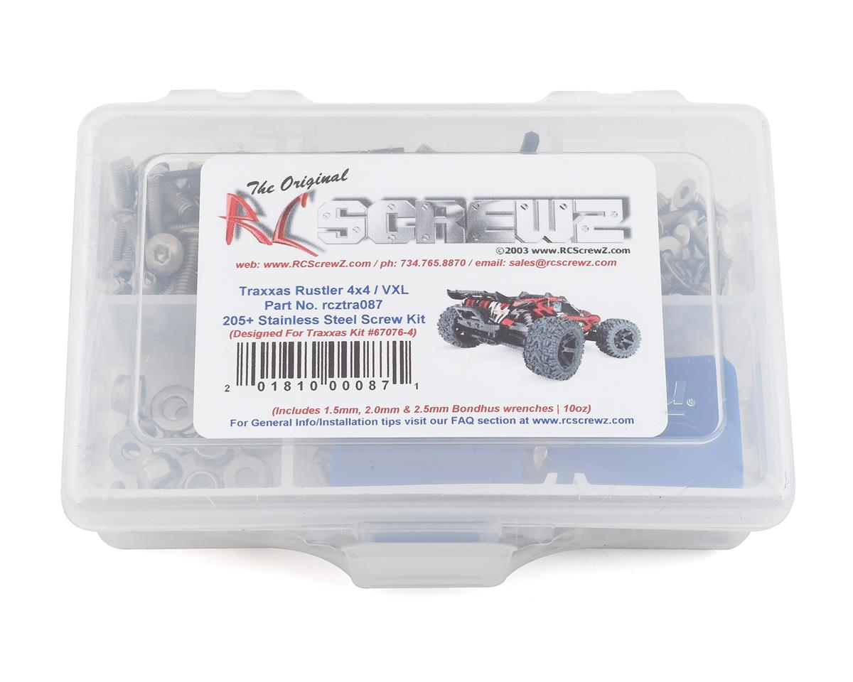RC Screwz Traxxas Rustler 4x4/VXL Stainless Steel Screw Kit