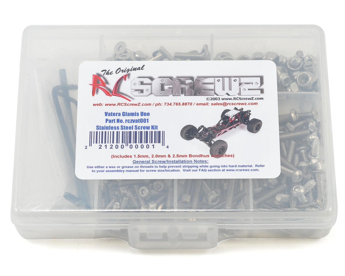 RC Screwz Vaterra Glamis UNO Stainless Steel Screw Kit