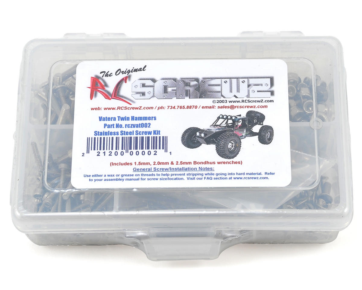 RC Screwz Vaterra Twin Hammer Stainless Steel Screw Kit