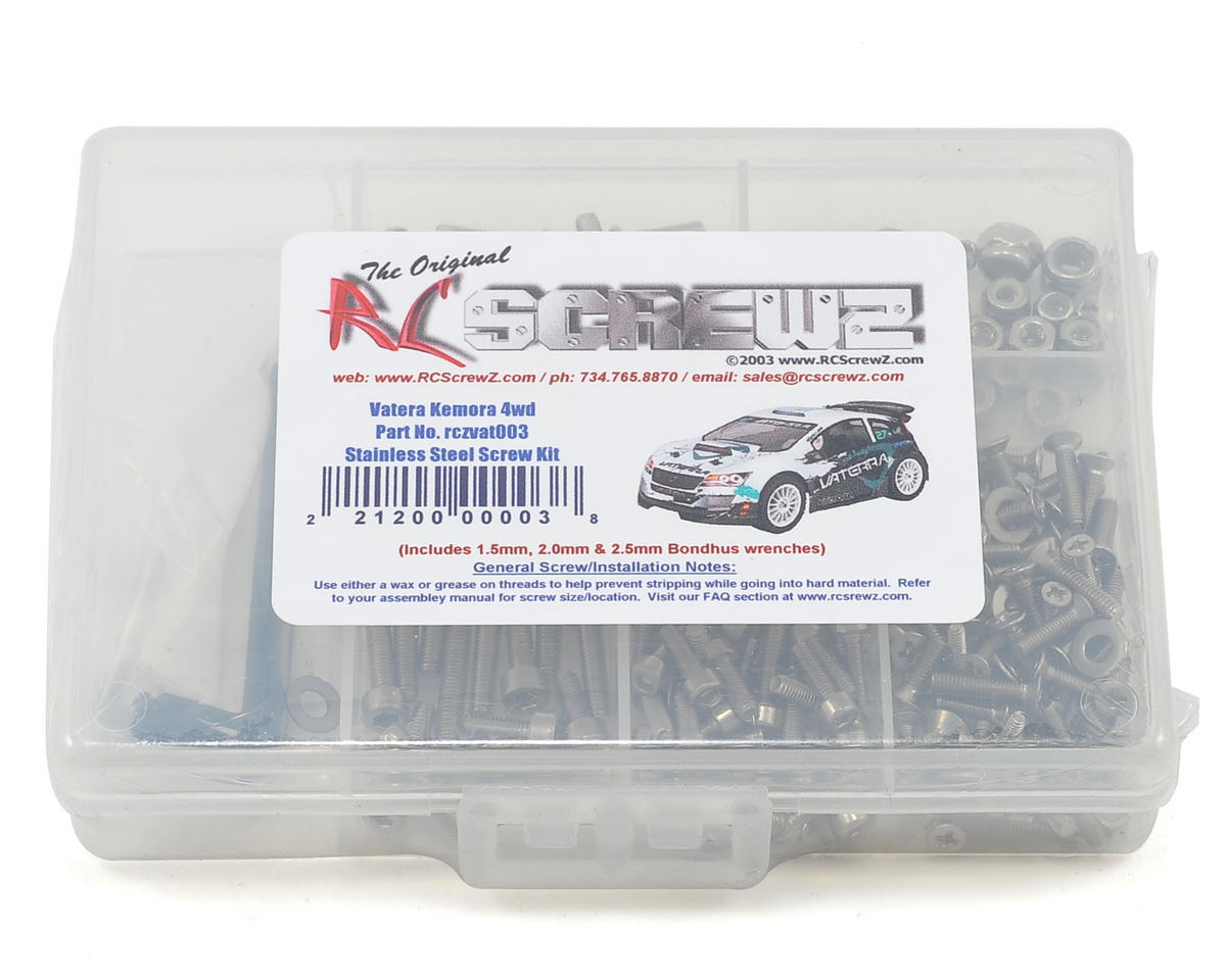 RC Screwz Vaterra Kemora Stainless Steel Screw Kit