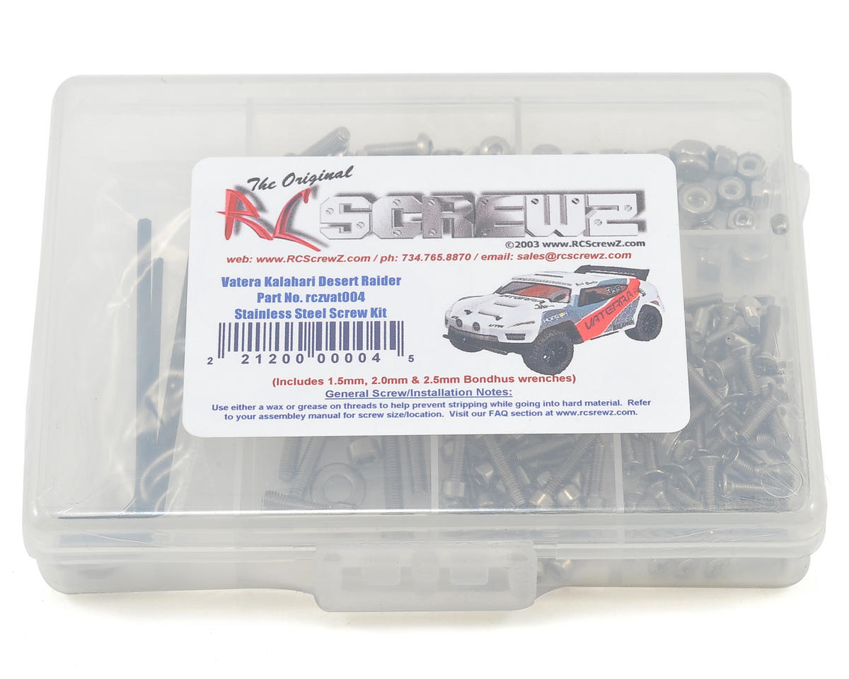 RC Screwz Vaterra Kalahari Stainless Steel Screw Set