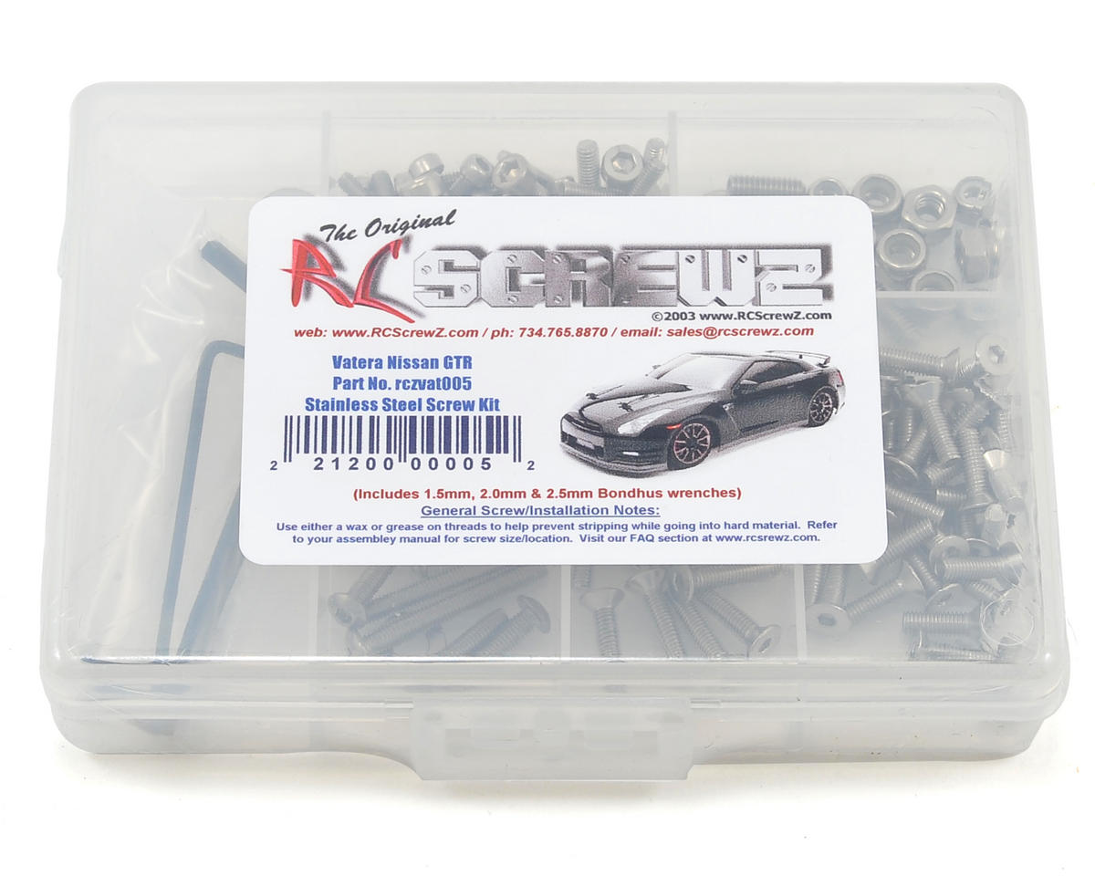 RC Screwz Vaterra Nissan GT-R Stainless Steel Screw Set