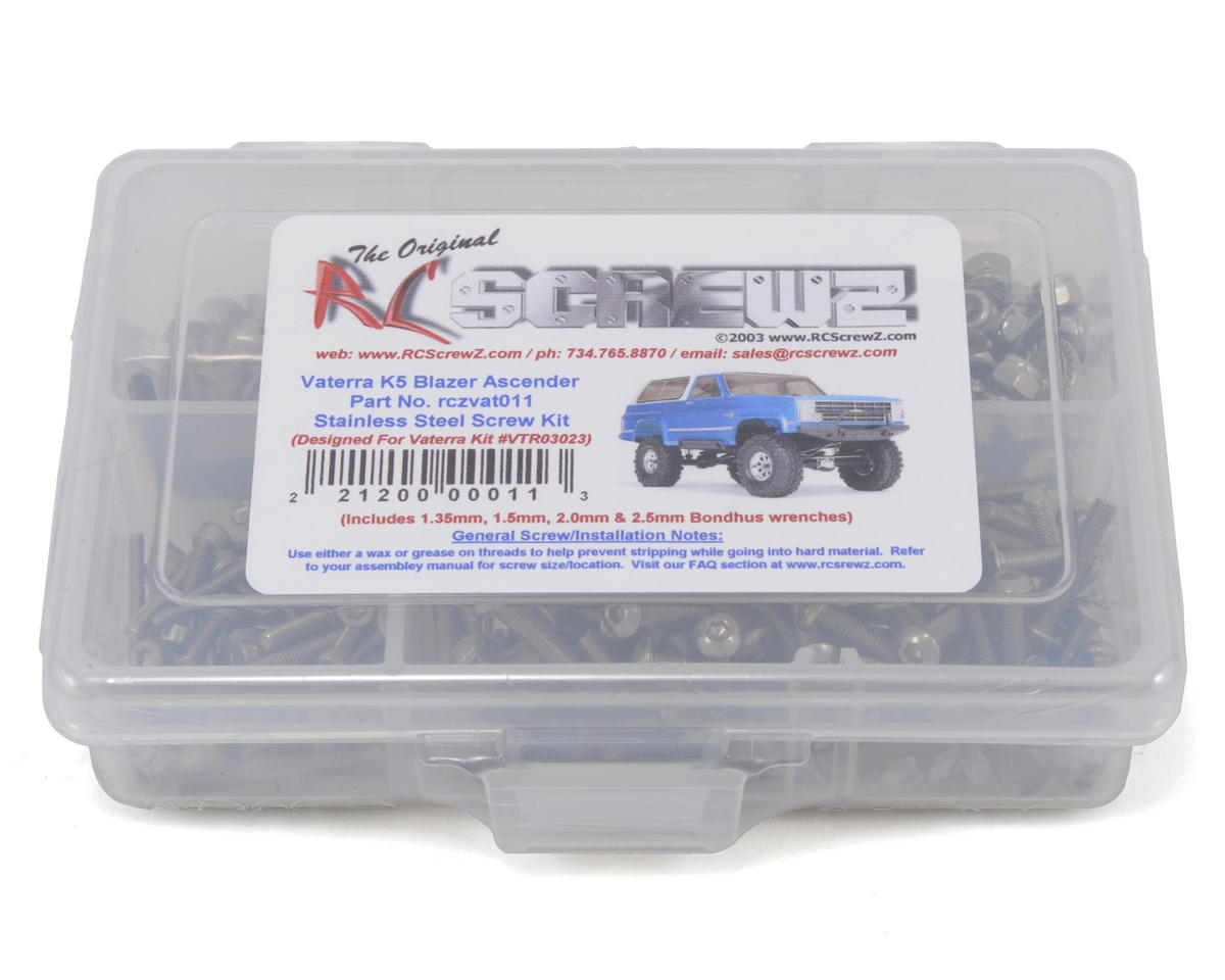 RC Screwz Vaterra K5 Blazer Ascender Stainless Steel Screw Kit