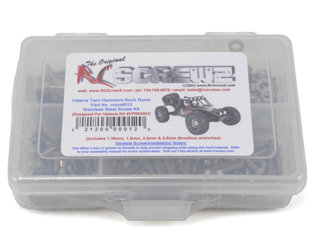 RC Screwz Vaterra Twin Hammers Rock Racer Stainless Steel Screw Kit