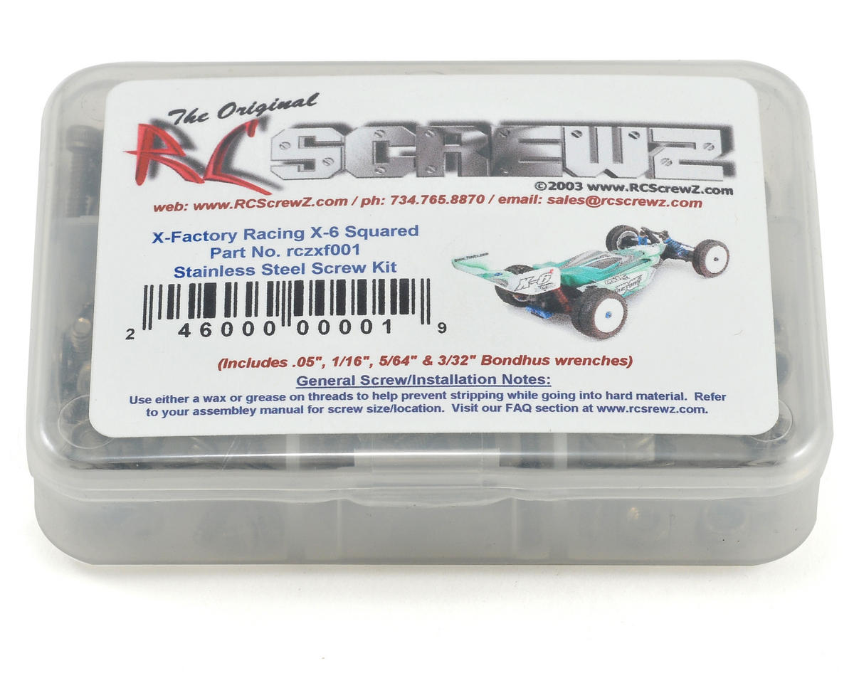 RC Screwz X Factory X-6 Squared Stainless Steel Screw Kit