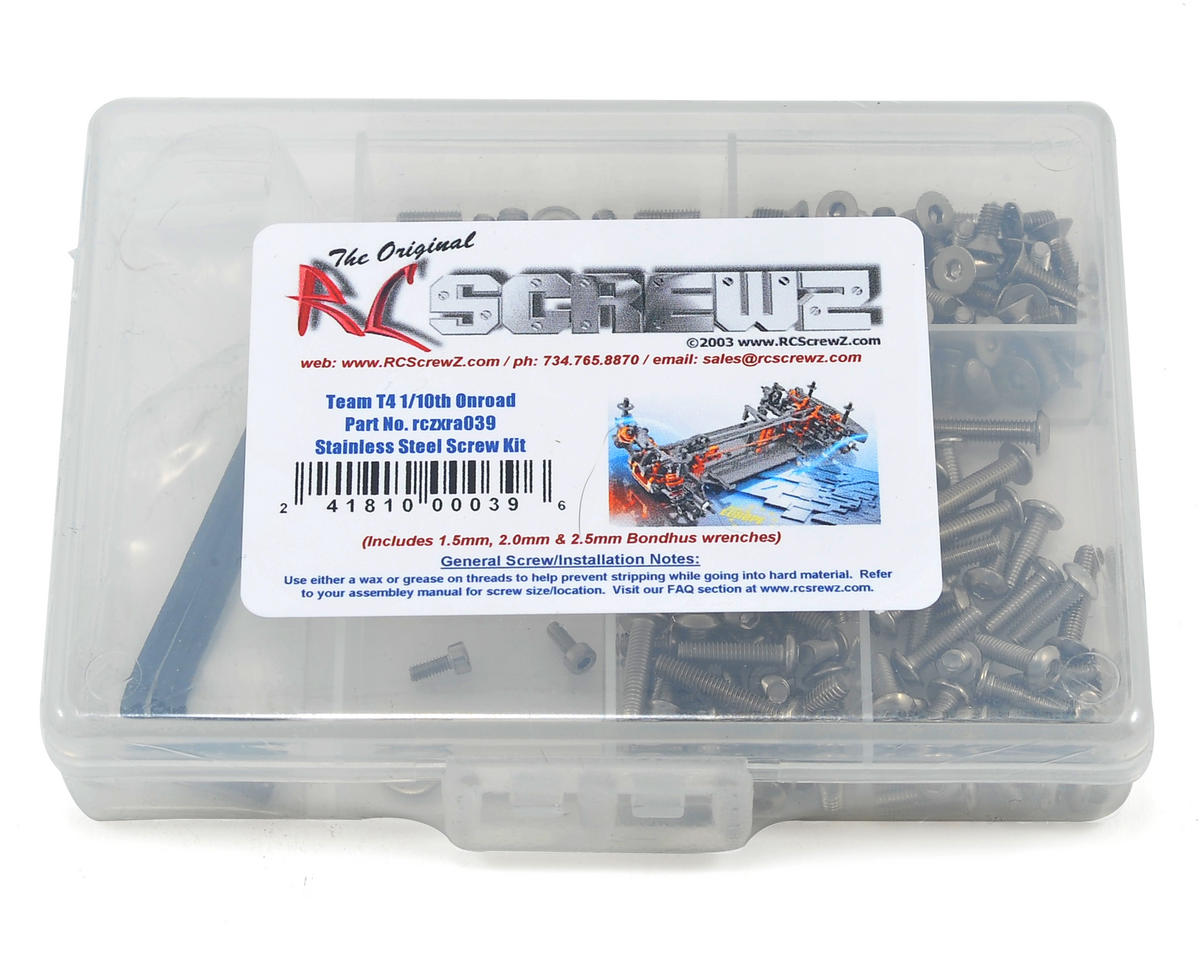 RC Screwz XRAY T4 Stainless Steel Screw Kit
