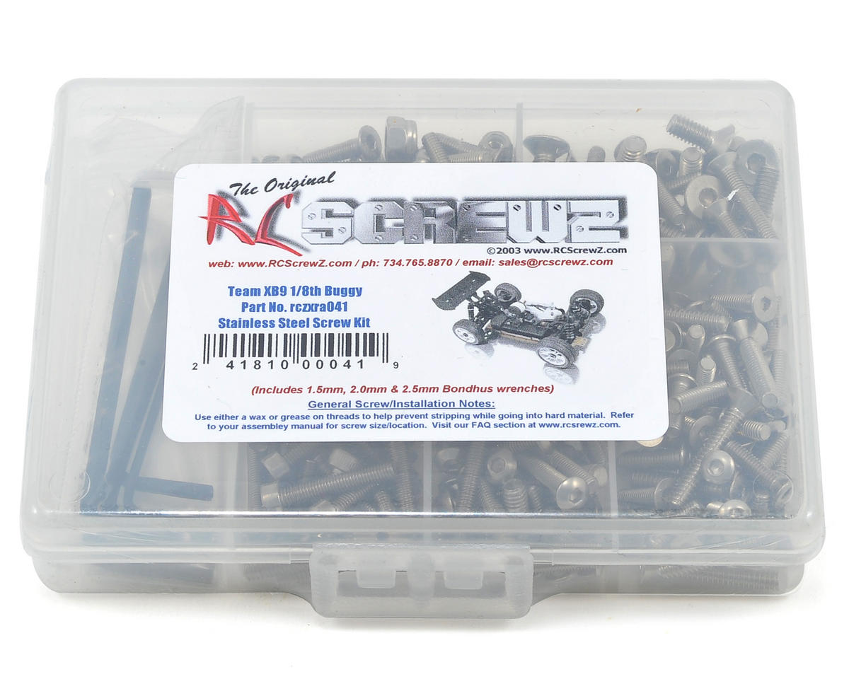 RC Screwz XRAY XB9 Stainless Steel Screw Kit