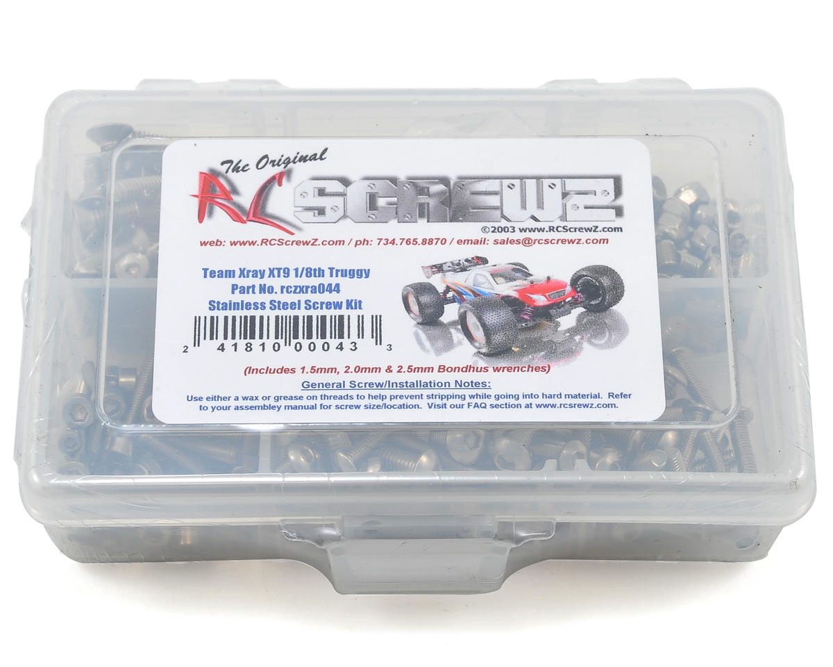 RC Screwz XRAY XT9 1/8 Truggy Stainless Steel Screw Kit