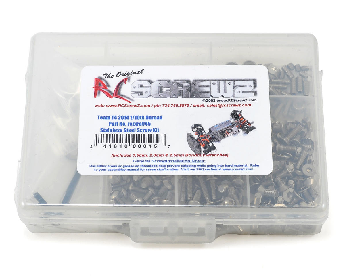 RC Screwz XRAY T4 2014 1/10th Onroad Stainless Steel Screw Kit