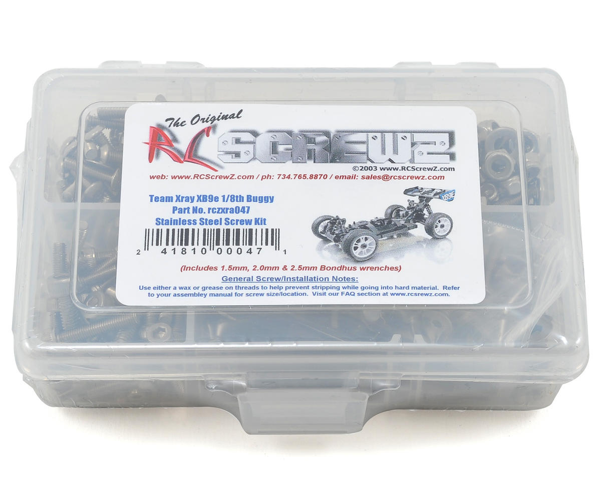 RC Screwz XRAY XB9e 1/8th Buggy Stainless Steel Screw Kit