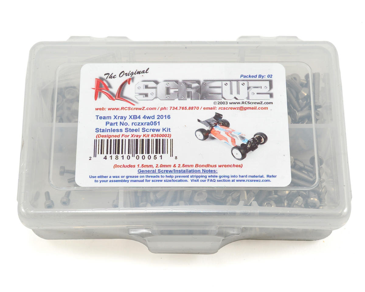 XRAY XB4 4wd 2016 Stainless Screw Kit by RC Screwz