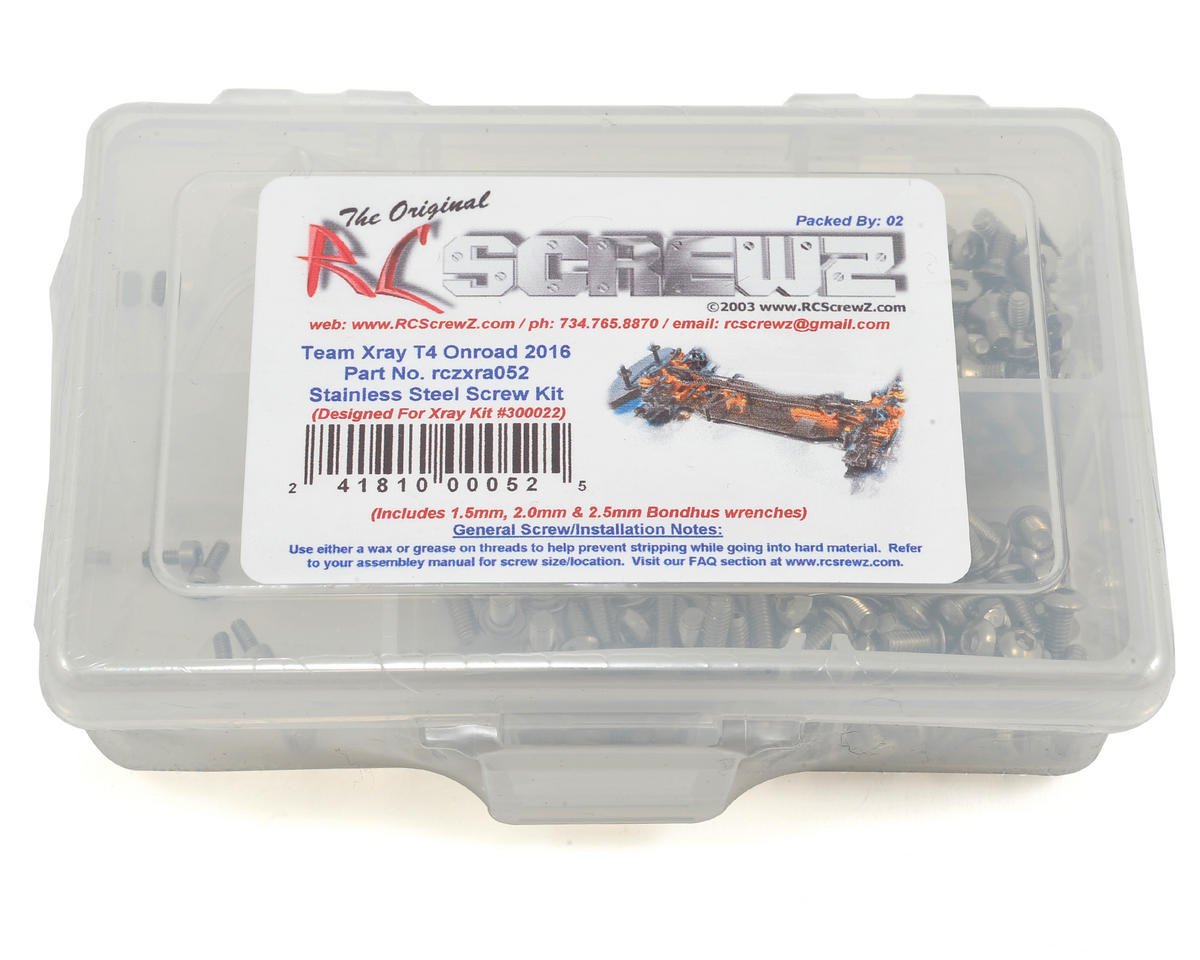 RC Screwz XRAY T4 2016 Stainless Steel Screw Kit