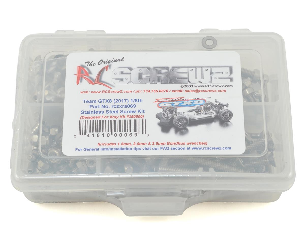 RC Screwz XRAY GTX8 1/8 Onroad Stainless Steel Screw Kit
