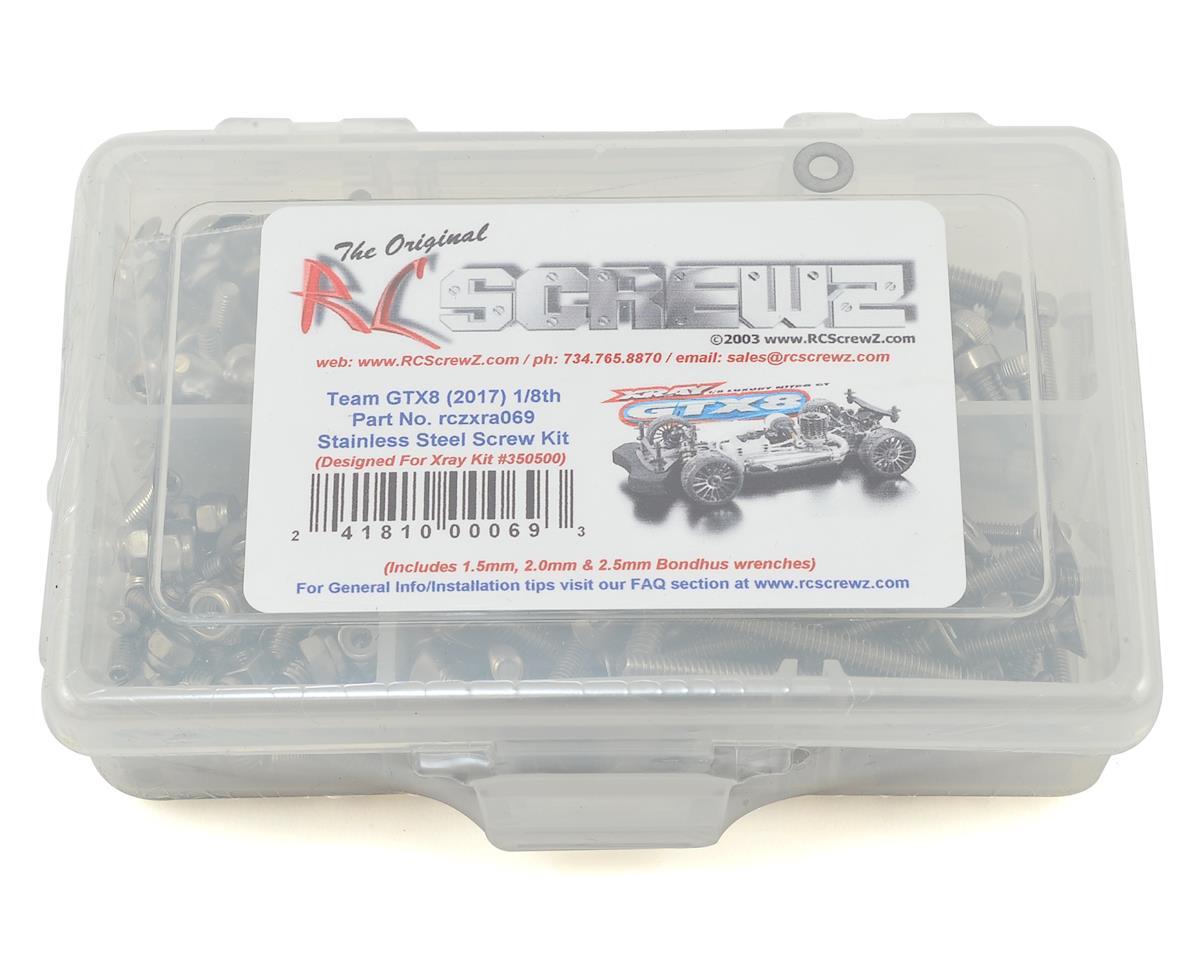 RC Screwz XRAY GTX8 1/8 Onroad Stainless Steel Screw Kit