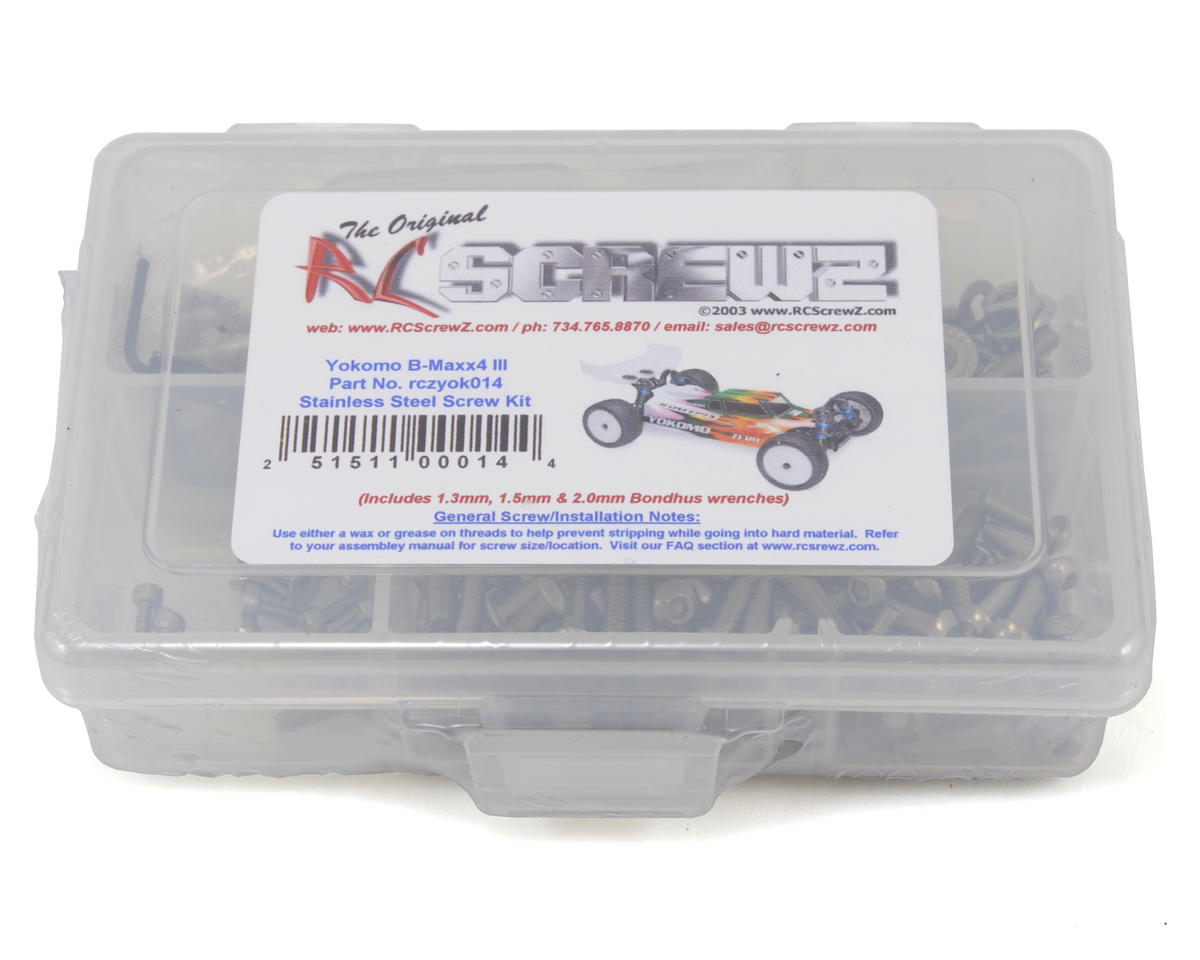 RC Screwz Yokomo B-MAX4 III Stainless Steel Screw Kit