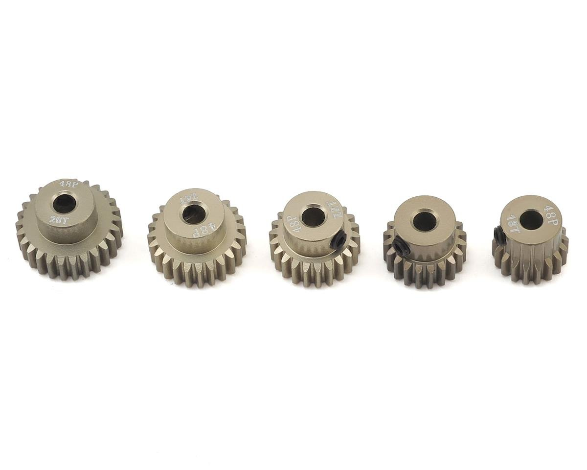5-Pack 48P Aluminum Pinion Gear Even Pack (18,20,22,24,26T) by Ruddog