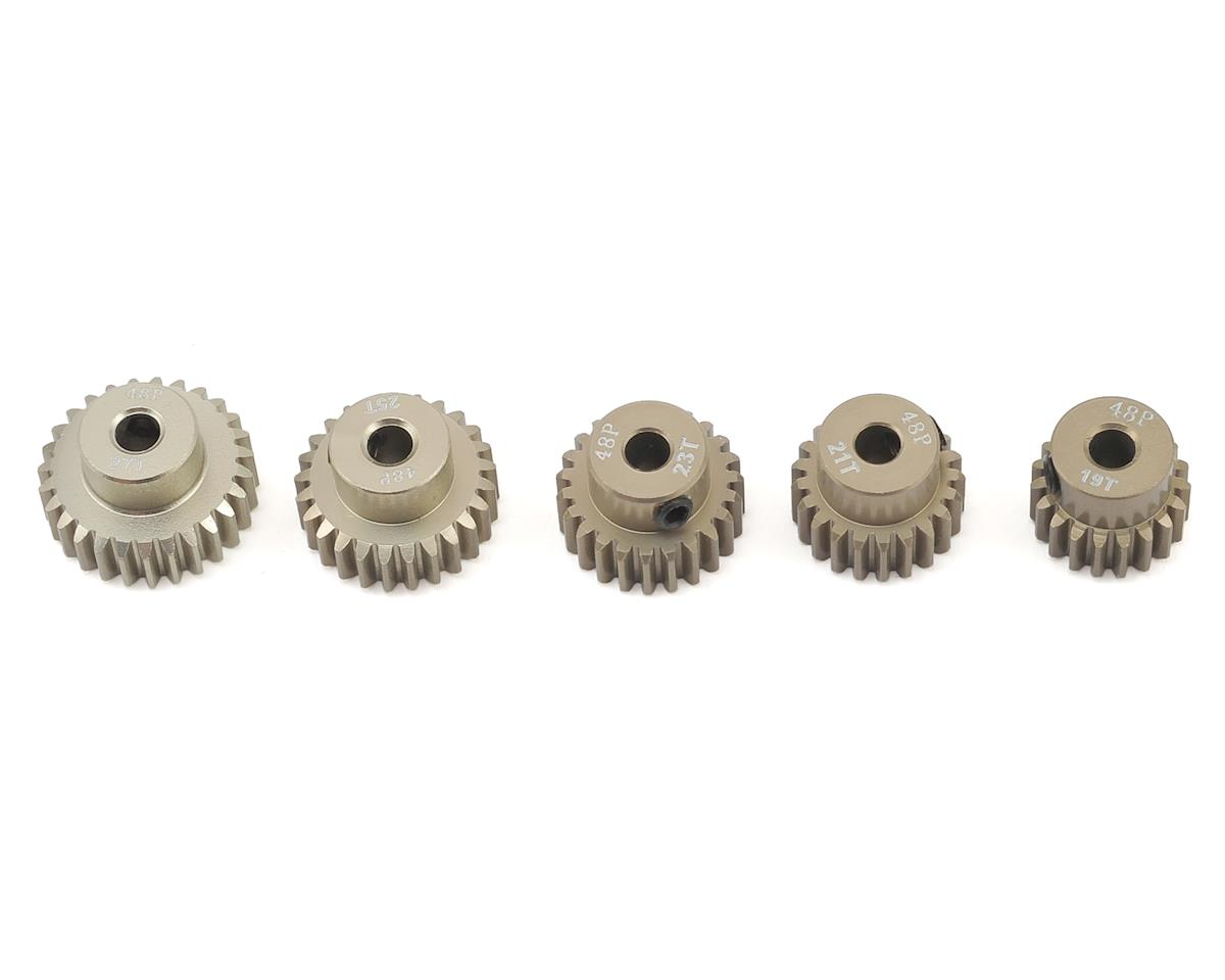 5-Pack 48P Aluminum Pinion Gear Odd Pack (19,21,23,25,27T)