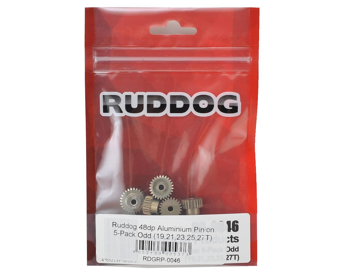 5-Pack 48P Aluminum Pinion Gear Odd Pack (19,21,23,25,27T) by Ruddog