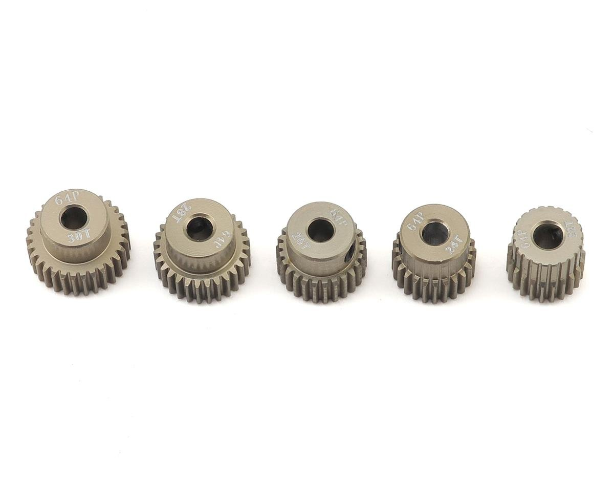 5-Pack 64P Aluminum Pinion Gear Even Pack (22,24,26,28,30T) by Ruddog