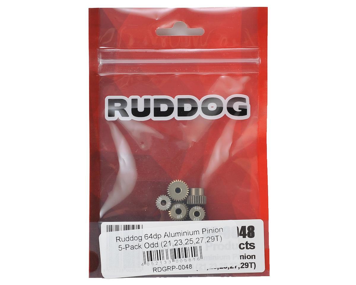 Ruddog 5-Pack 64P Aluminum Pinion Gear Odd Pack (21,23,25,27,29T)