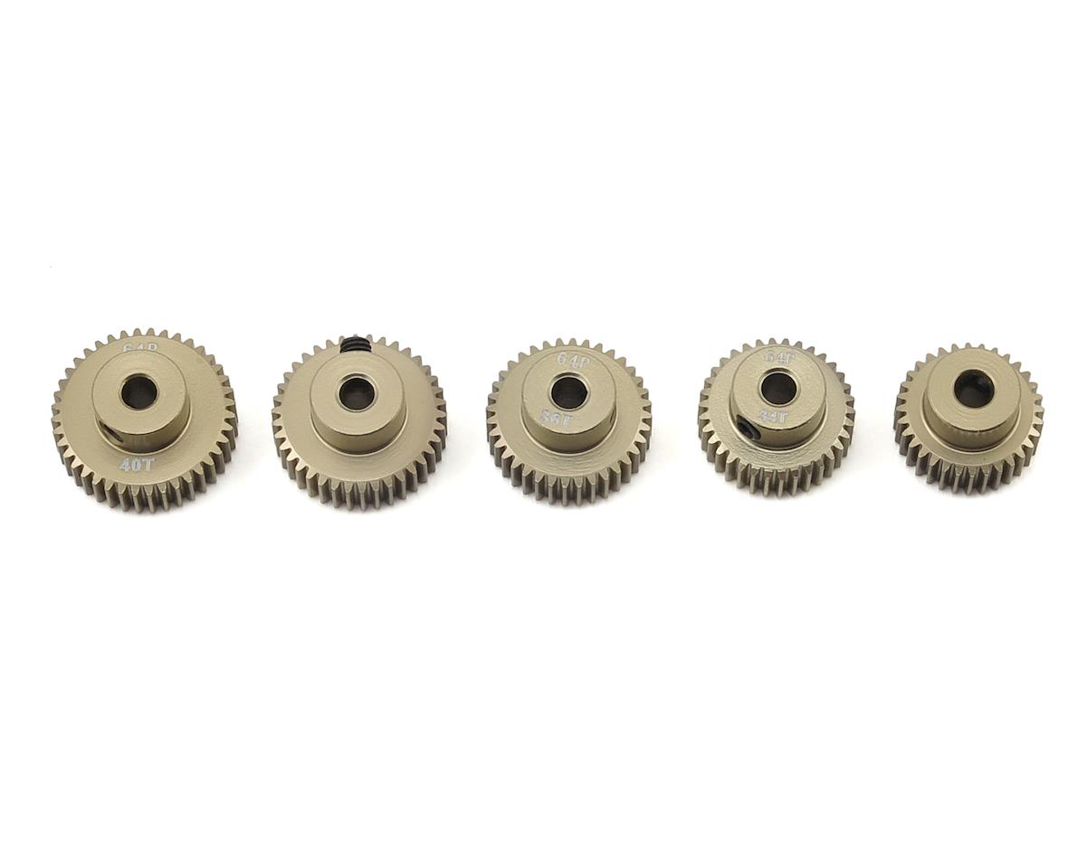 5-Pack 64P Aluminum Pinion Gear Even Pack (32,34,36,38,40T)