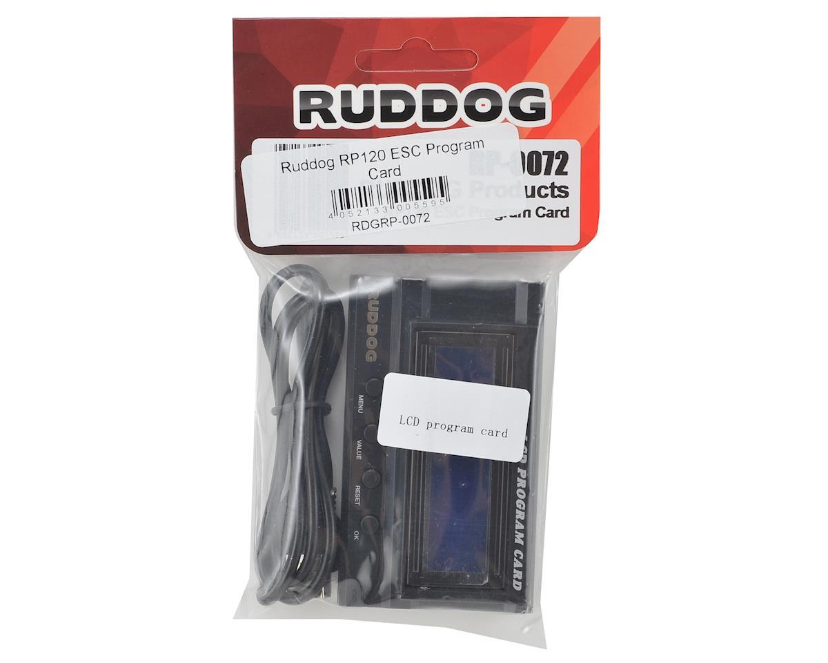 Ruddog RP120 ESC LCD Program Card