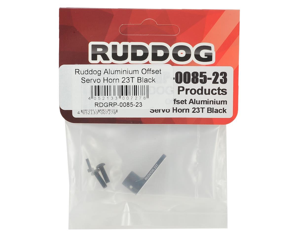 Ruddog Aluminum Offset Servo Horn (Black) (23T - JR/Airtronics/KO)