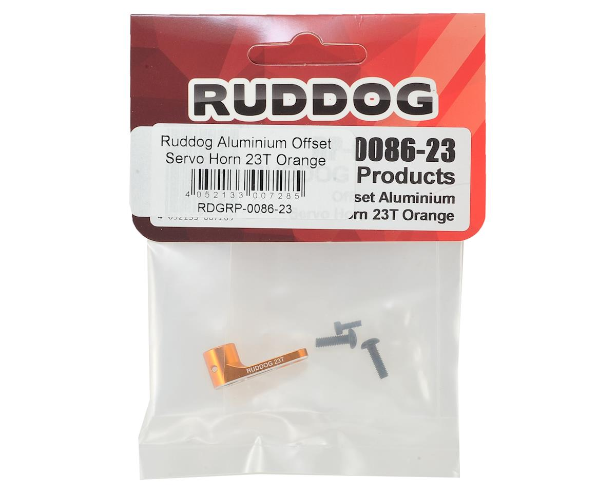 Ruddog Aluminum Offset Servo Horn (Orange) (23T - JR/Airtronics/KO)