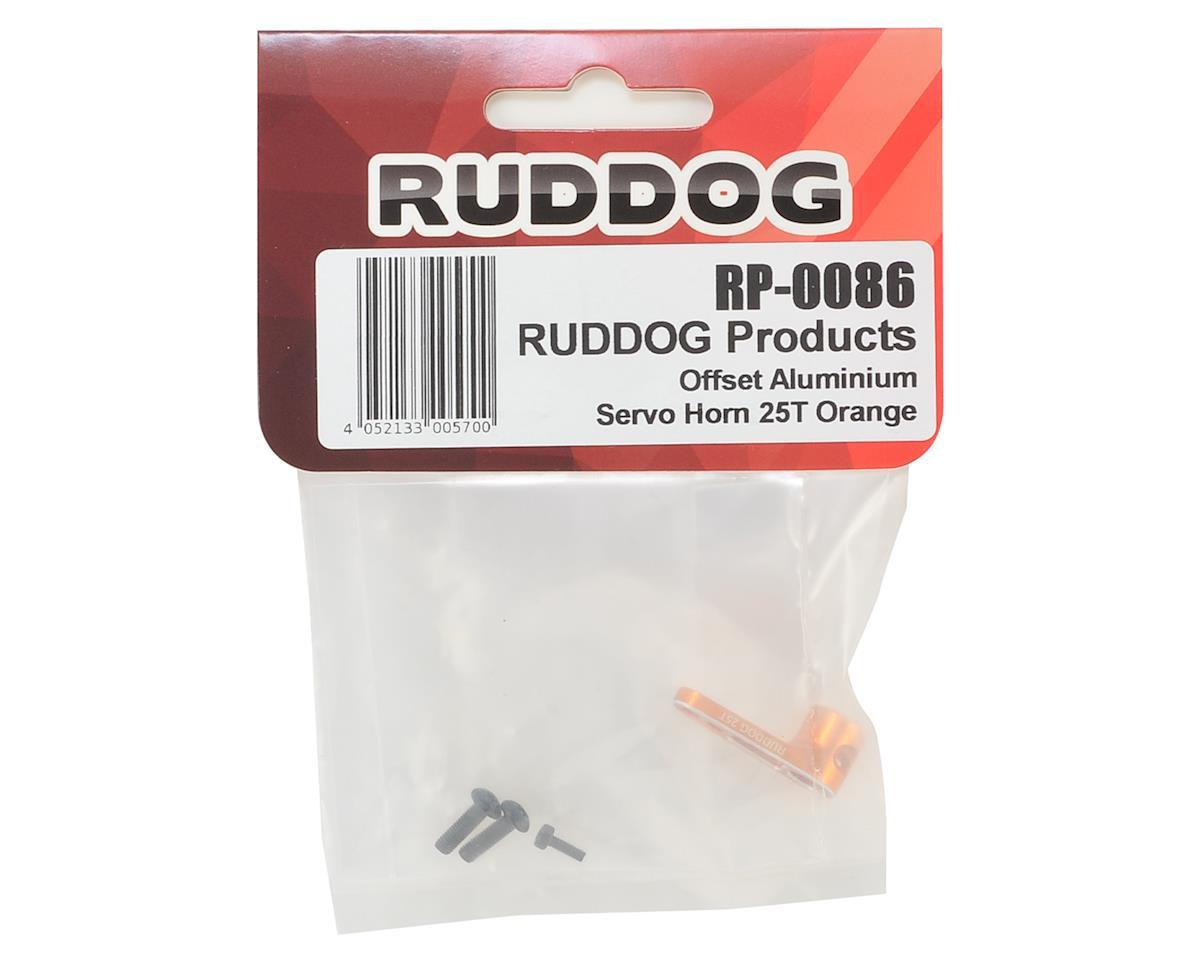 Ruddog Aluminum Offset Servo Horn (Orange) (25T-ProTek/Ruddog/Savox)