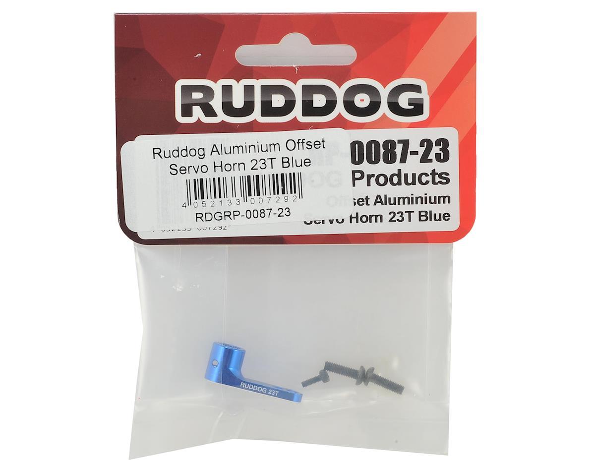 Ruddog Aluminum Offset Servo Horn (Blue) (23T - JR/Airtronics/KO)