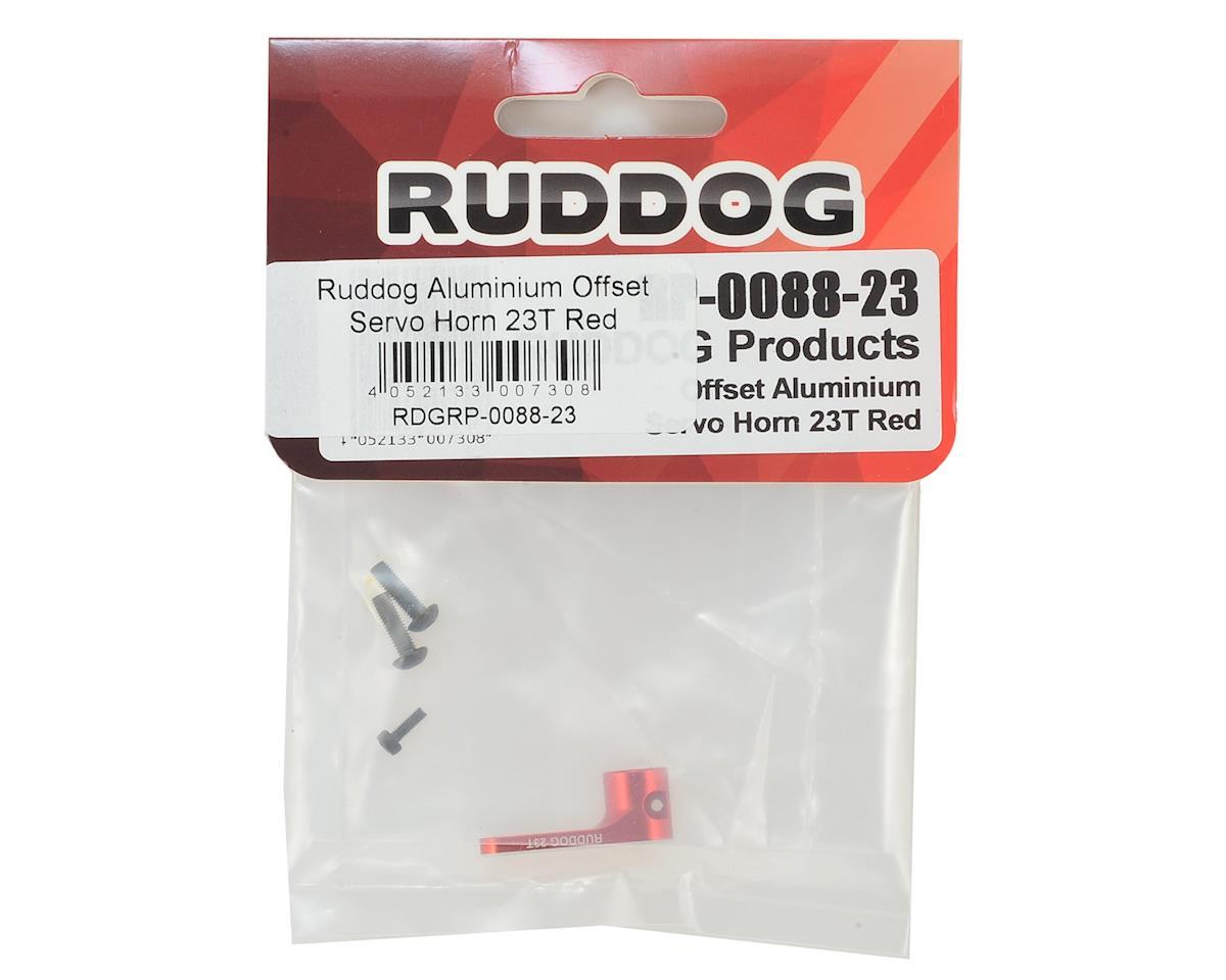 Ruddog Aluminum Offset Servo Horn (Red) (23T - JR/Airtronics/KO)