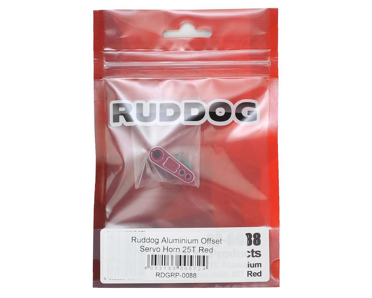 Aluminum Offset Servo Horn (Red) (25T-ProTek/Ruddog/Savox) by Ruddog