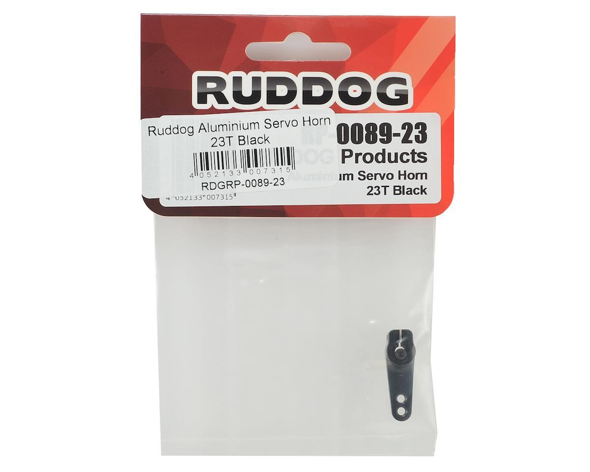 Ruddog Aluminum Servo Horn (Black) (23T - JR/Airtronics/KO)
