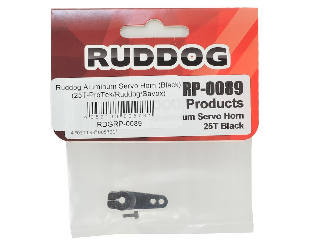 Ruddog Aluminum Servo Horn (Black) (25T-ProTek/Ruddog/Savox)