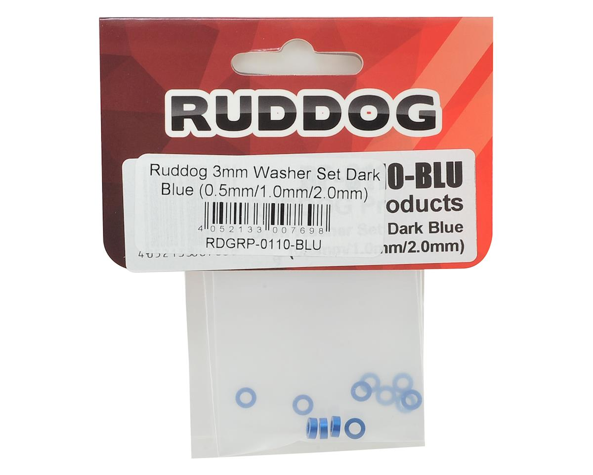 Ruddog 3mm Washer Set (Dark Blue) (0.5mm/1.0mm/2.0mm)