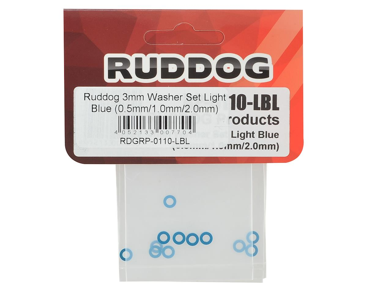 Ruddog 3mm Washer Set (Light Blue) (0.5mm/1.0mm/2.0mm)