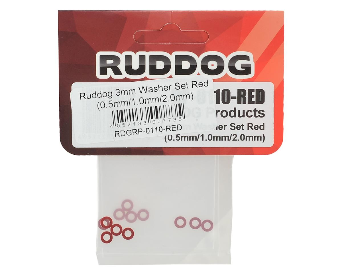 Ruddog 3mm Washer Set (Red) (0.5mm/1.0mm/2.0mm)
