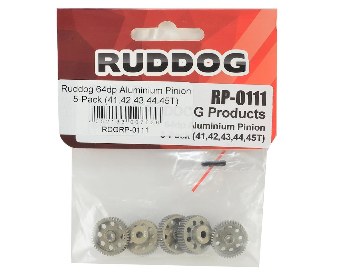 Ruddog 5-Pack 64P Aluminum Pinion Gear Pack (41,42,43,44,45T)