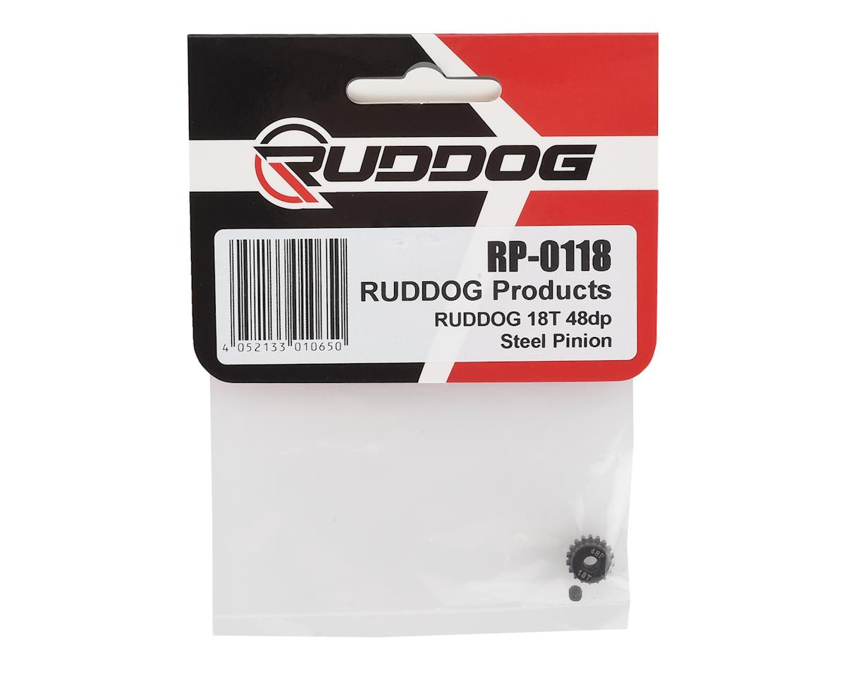 Ruddog Steel 48P Pinion Gear (3.17mm Bore) (18T)