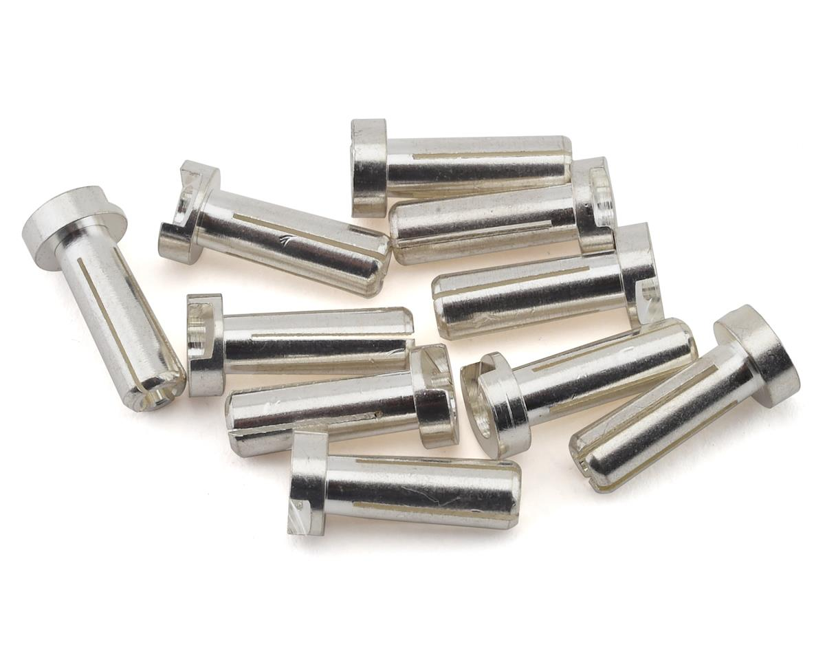 Ruddog 4mm Silver Male Bullet Plug (10) (14mm Long)