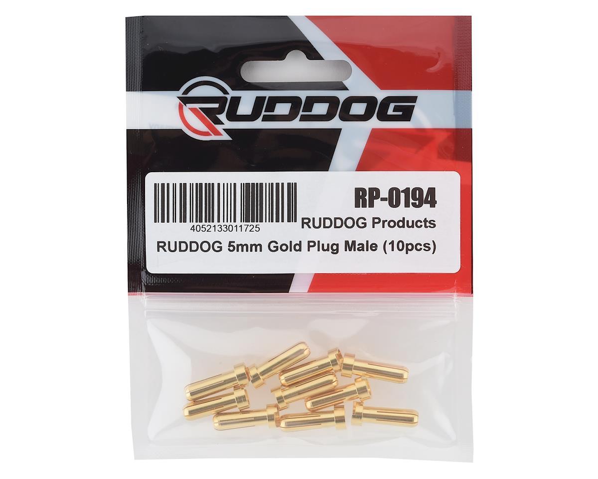 Ruddog 5mm Gold Male Bullet Plug (10)